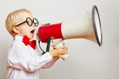 Child with megaphone